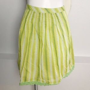 Free People | Green and Yellow Tie Dye Skirt 10